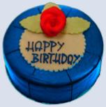 blaue torte